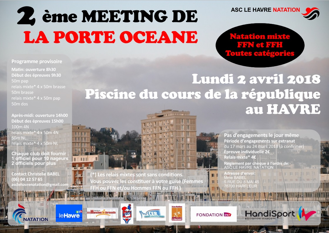 meeting natation le Havre