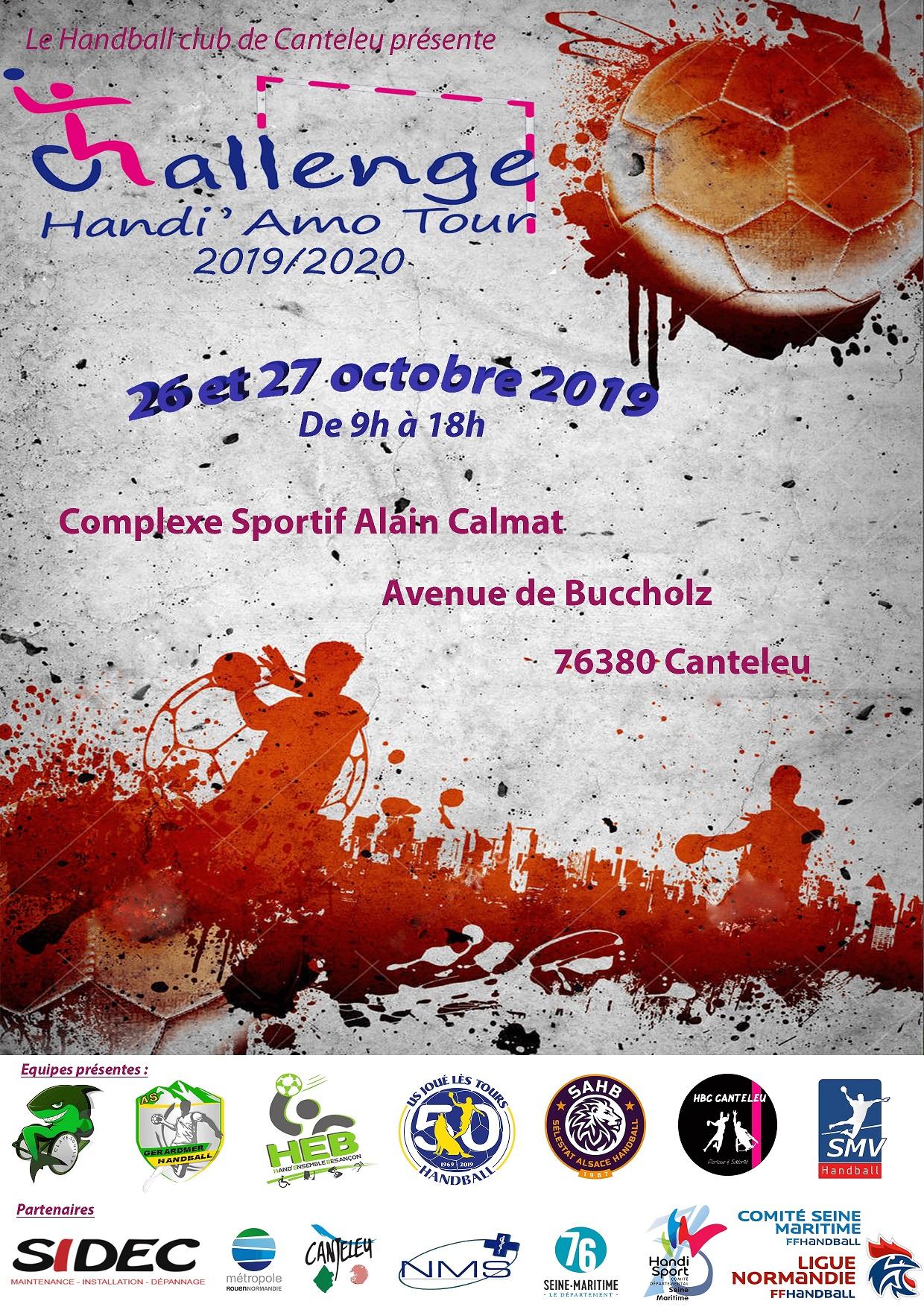affiche Tournoi hand Ball 26 et 27 octobre 2019