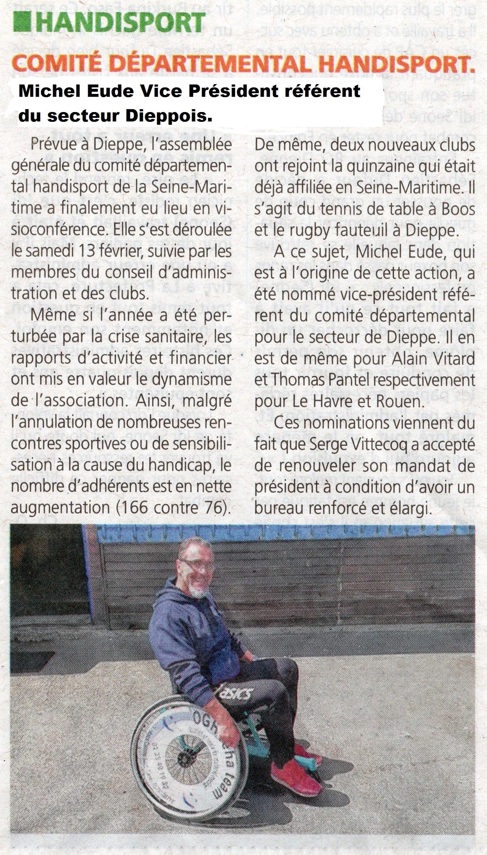 Article de presse nomination de Michel Eude