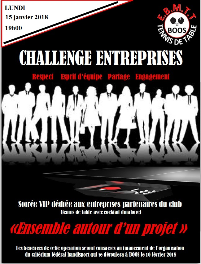 Challenge entreprise Tennis de Table Fauteuil