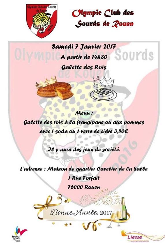 affiche Galette des Rois Futsal